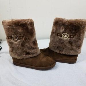 Michael Kors Girls  Faux Fur Boots EXCELLENT COND